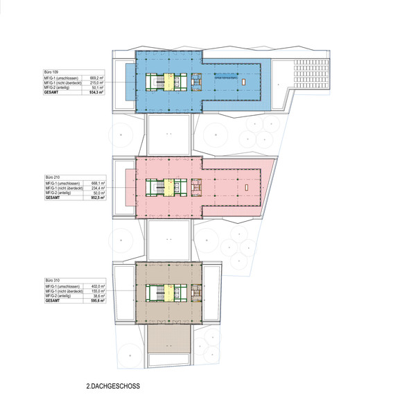 Floor plan 2nd top floor