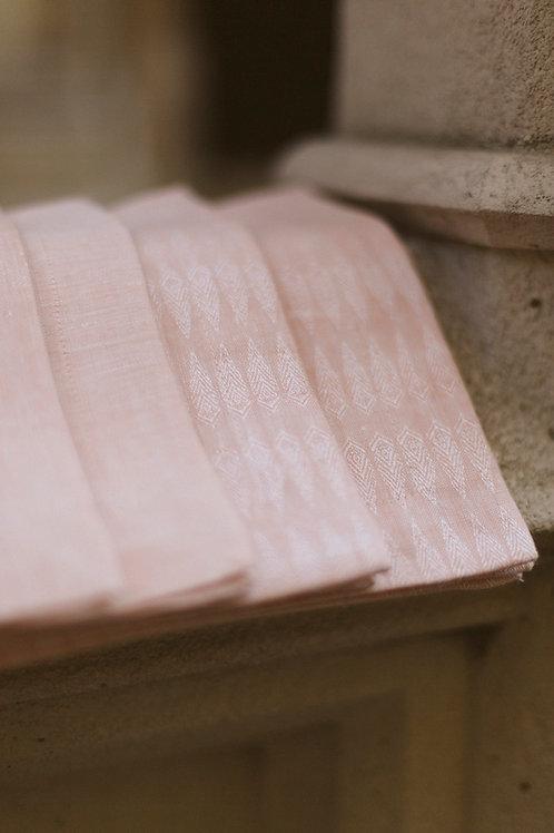 Serviette Leinen #1 gemustert oder uni / puder