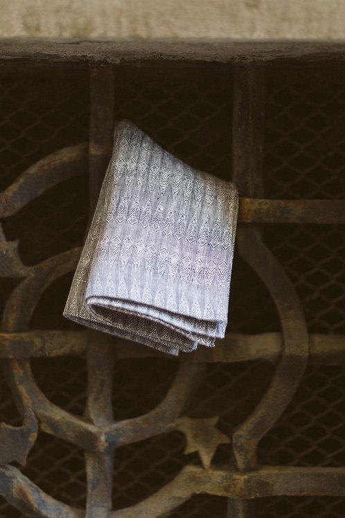 Serviette Leinen #1 gemustert oder uni / graphit