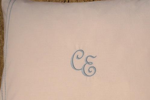 Polsterüberzug Percalle mit Monogramm (Elena-Costa)