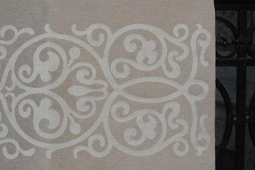 Überdecke mit Muster mittig / 280x280cm (HL Isabelle-Richard)
