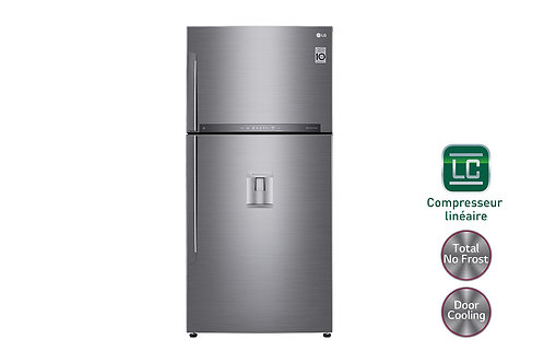 LG GC-F682H Réfrigérateur 2 portes | Total No Frost | Compresseur linéaire inve