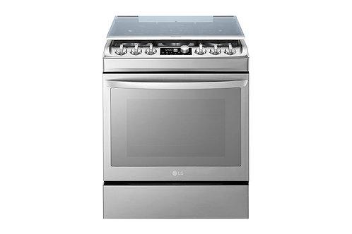 LG LF761S Cuisinière à gaz 6 Feux 76 Cm |Brûleur Triple UltraHeat™ |EasyClean™