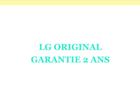 LG ORIGINAL GARANTIE 2ANS
