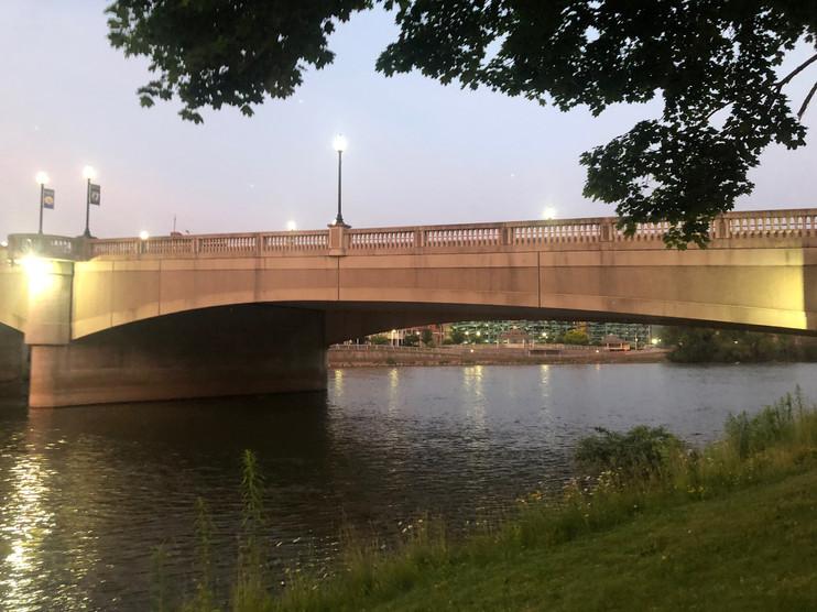 Veterans Memorial Bridge in Downtown Warren