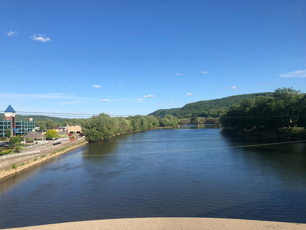 View from Veterans Memorial Bridge of Allegheny River