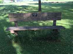 bench at russell playground