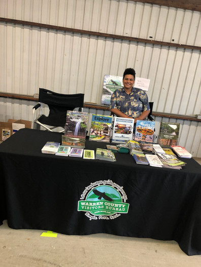 WCVB Table at Warren County Fair