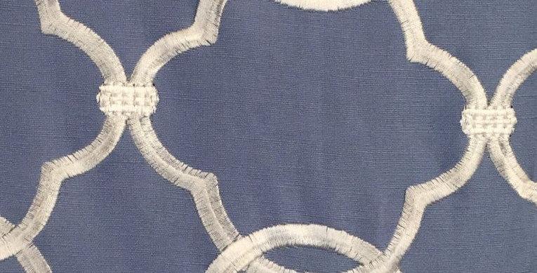 Soft Blue Geometric Pattern