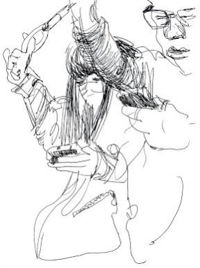 April Tokyo Train Sketches Part 2