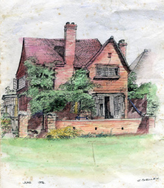 A History of my Archive in 10 Objects. No.1: Sketch from the back garden of Butlers Lane, 1976