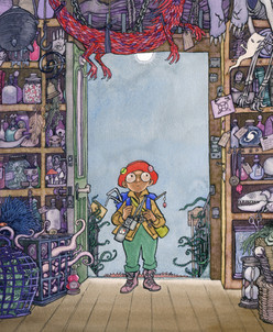 From 'Magic For Sale' - picture book written by Carrie Clickard, (Holiday House, USA)