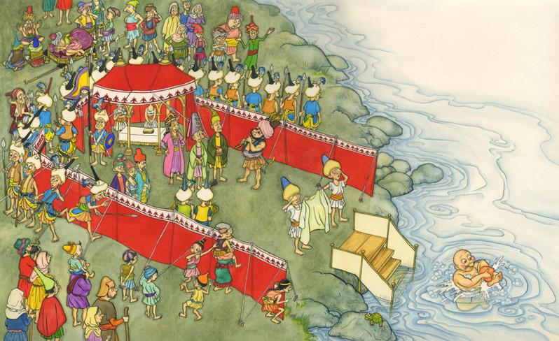 From 'King Smelly Feet'- picture book written by Hiawyn Oram, (Andersen Press UK)