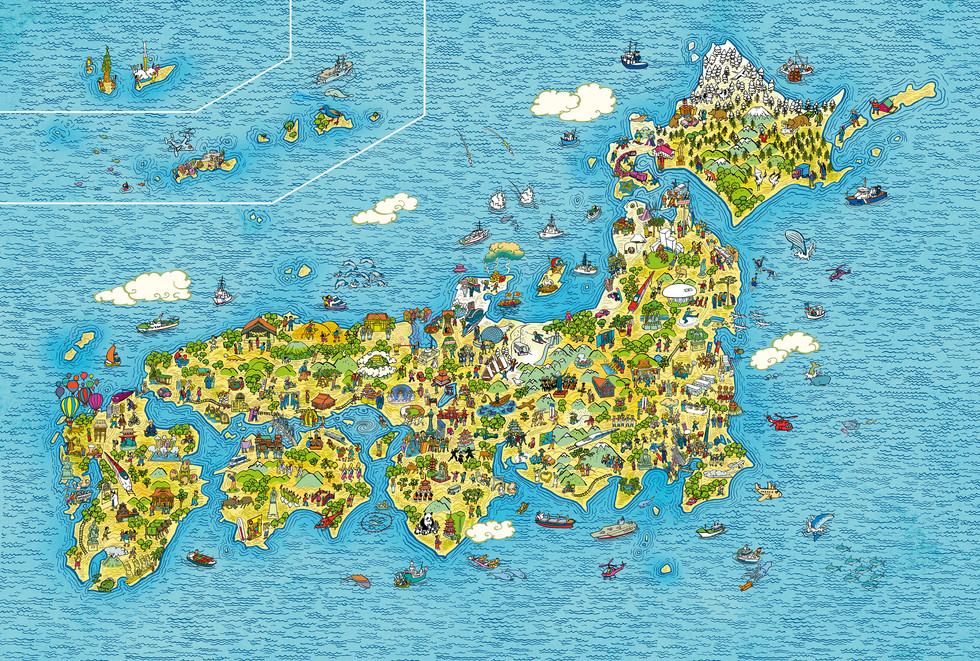 毎日新聞 Mainichi Newspaper Japan Map.
