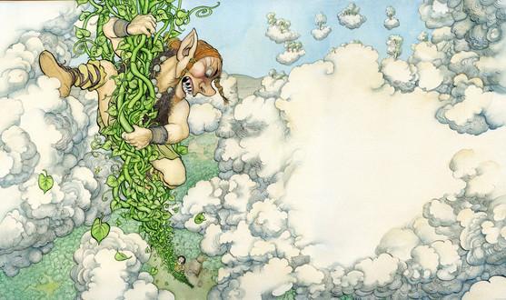 From 'ジャックと豆の木' - my picture book retelling of 'Jack & the Beanstalk' (福音館書店 Fukuinkan Shoten, Japan)