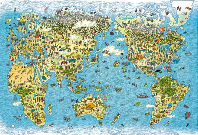 毎日新聞 Mainichi Newspaper World Map.