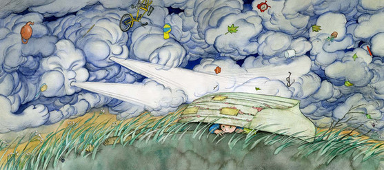 From 'The Boat in the Tree' - picture book written by Tim Wynne-Jones, (Front Street USA)