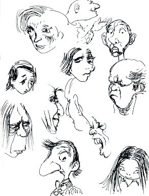 …and more faces