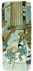 From 'The Cobbler & The Elves' - おおきなポケット Ooki-na Pocket magazine (Fukuinkan Shoten Japan)