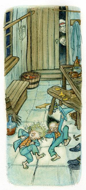 From 'The Cobble & The Elves' - おおきなポケット Ooki-na Pocket magazine (Fukuinkan Shoten Japan)