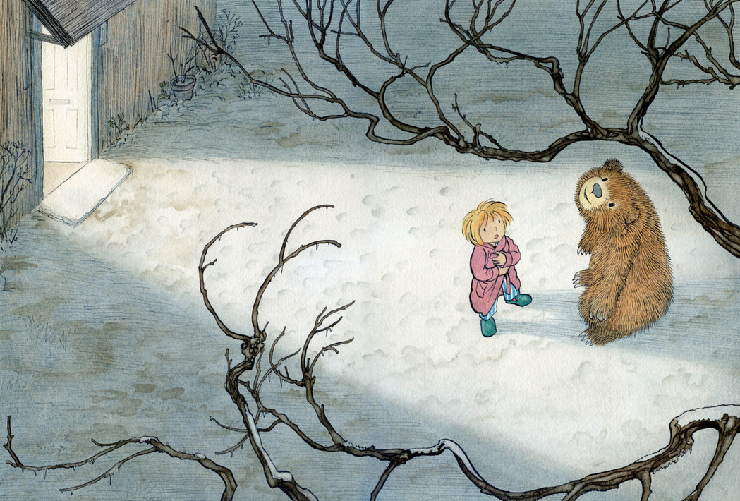 From 'Crinkle, Crackle, Crack, It's Spring!' - picture book written by Marion Dane Bauer, (Holiday House, USA)