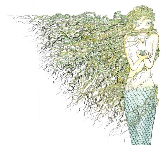 From '人魚姫' (The Little Mermaid)- in 「あなたの知らない」Hans Christian Andersen series (Hyoronsha Japan)