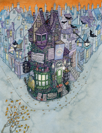 From 'Magic For Sale' picture book written by Carrie Clickard, (Holiday House, USA)