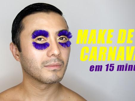 MAKE DE CARNAVAL EM 15 MIN.