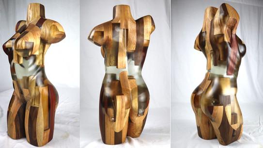 Epoxy and Wood Torso