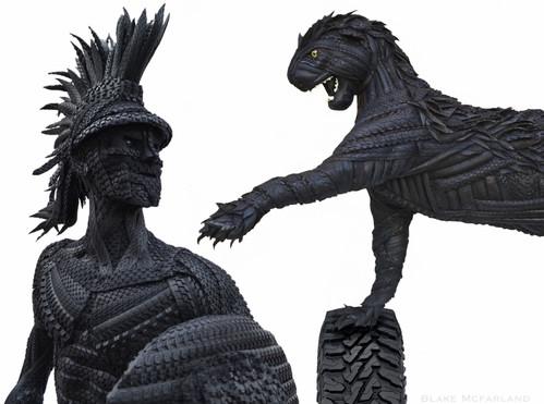 Blake McFarland Tire sculptures