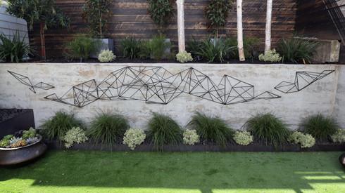 Geometric Steel Sculpture