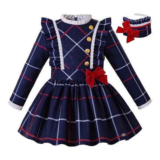 Платье для девочки в клетку
