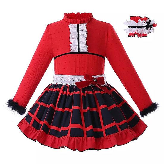 Комплект Рождество рубашка и юбочка для девочки