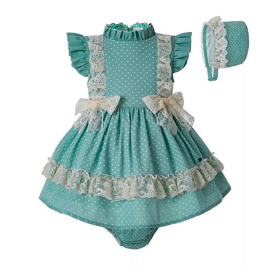 Платье мятно-зеленое для малышки