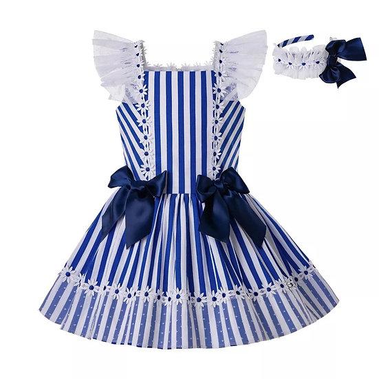 Платье в синюю полоску вар.3