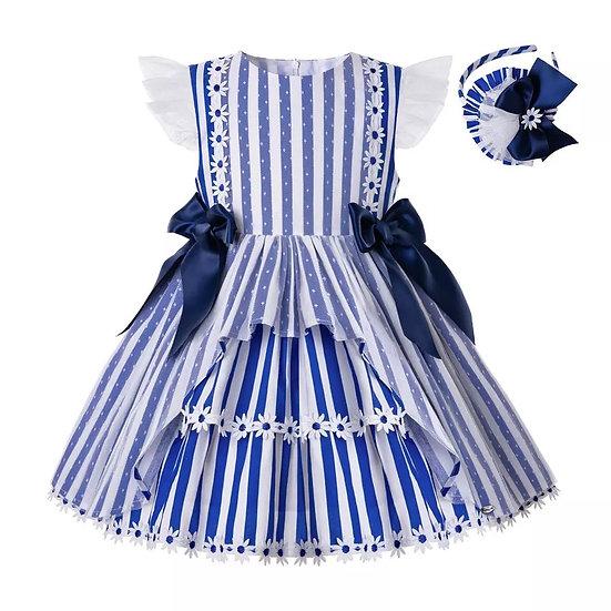 Платье в синюю полоску вар.1