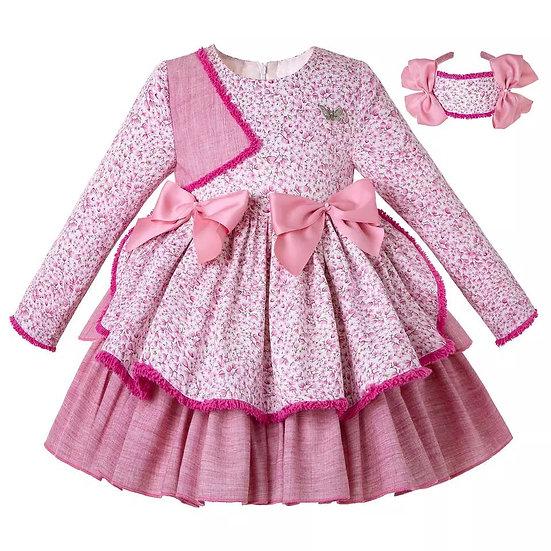 Платье Фантазия розовое для девочки