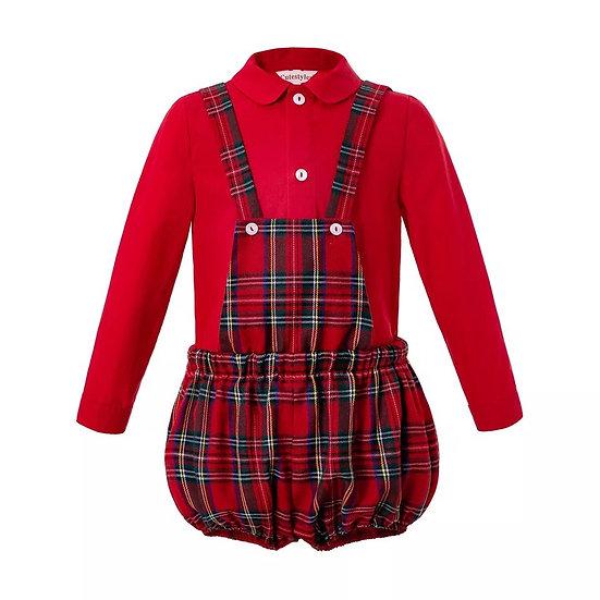 Комплект Рождественский для мальчика рубашка и шорты