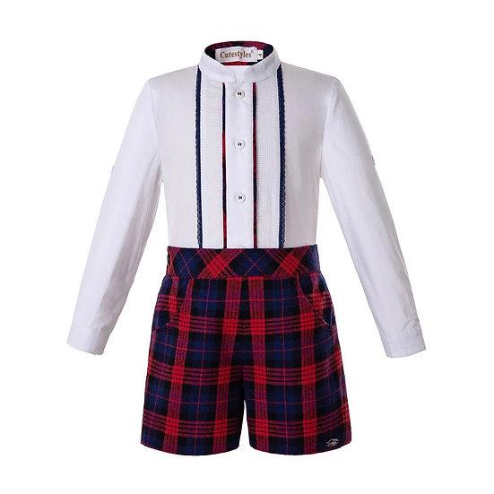 Комплект для мальчика рубашка и шорты