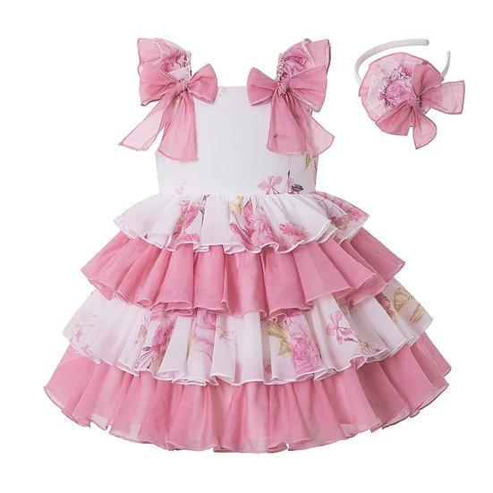 Летнее платье с цветочным принтом для девочки