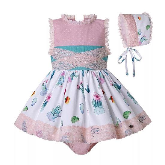 Платье для малышки кактусы