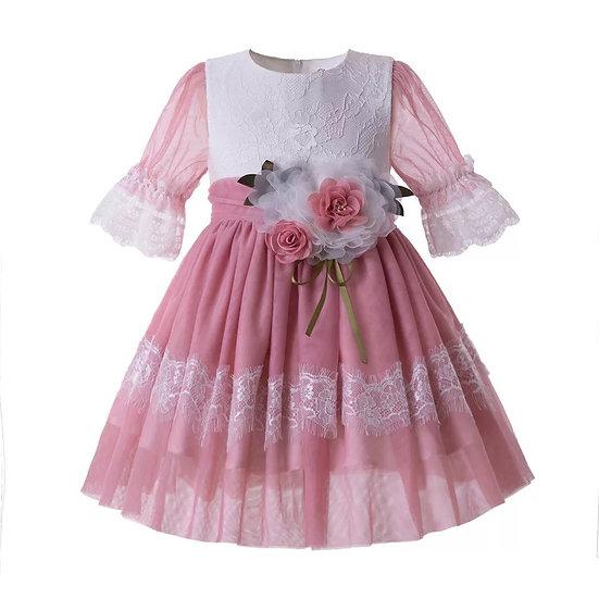 Платье Легкость с цветком