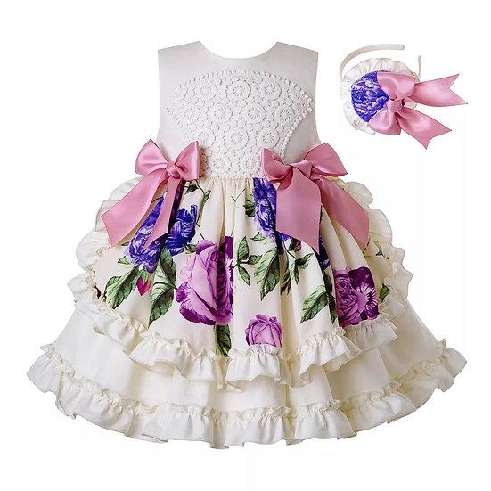 Платье праздничное цветочное для девочки