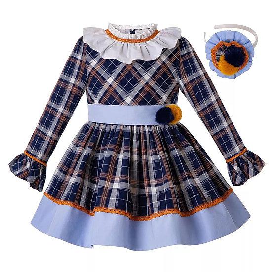 Платье в клетку для девочки