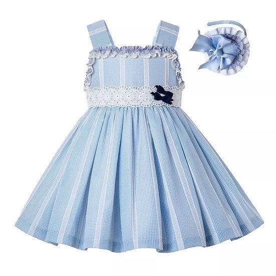 Платье летнее небесно-голубое