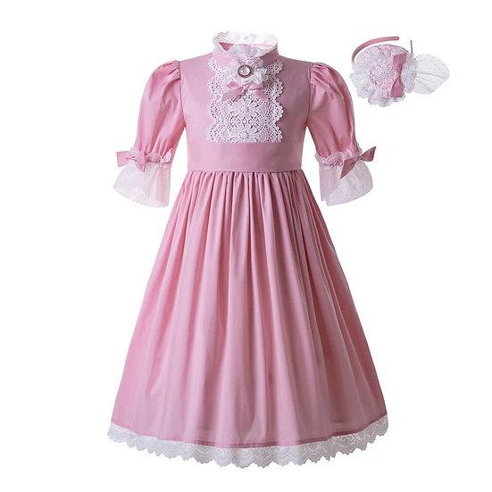 Платье винтажное розовое