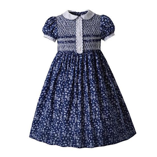 Платье винтажное синее