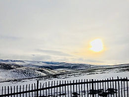 winter sunset over Corgarff