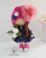 Handmade Doll with white tulips 8.jpg
