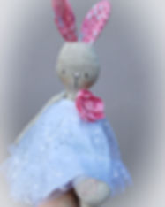 Handmade Rabbit in Sequin Dress - in han
